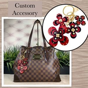 Accessories - Leather Charms Keychain Accessory Handmade